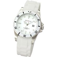ZEEme Watches Uhr weiß Silikon Datumsanzeige  2639