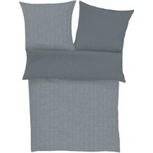 Zeitgeist Feinflanellbettwäsche grau 135 x 200, 80 x 80 cm