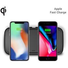 ZENS Dual Wireless Charger 15W mit Netzteil (EU/UK/US)  Qi  schwarz
