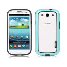 Zenus Walnutt Metro Block für Samsung Galaxy S3, Menthol Blue