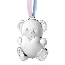 Zilverstad Anhänger Bär mit Herz (7cm) versilbert für Mädchen und Jungen