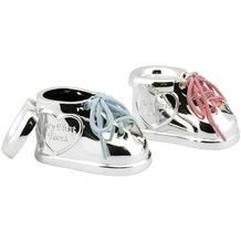 Zilverstad Haar- & Zahndose mit rosa und blauem Schnürsenkel versilbert und anlauf geschützt