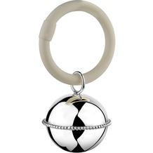 Zilverstad Rassel Ball, Perlrand, am Ring 9x5,5x3,5cm versilbert B90