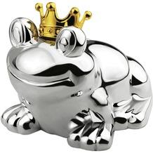Zilverstad Spardose Froschkönig 10x9x9cm, versilbert und lack geschützt