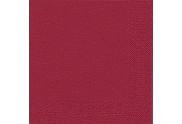 Duni Cocktail-Servietten 3lagig Tissue Uni bordeaux, 24 x 24 cm, 20 Stück