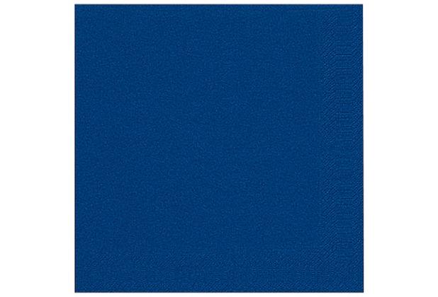 Duni Dinner-Servietten 3lagig Tissue Uni dunkelblau, 40 x 40 cm, 20 Stück