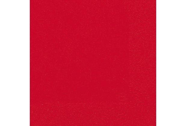 Duni Servietten rot, 3lagig Tissue Uni rot, 33 x 33 cm, 20 Stück