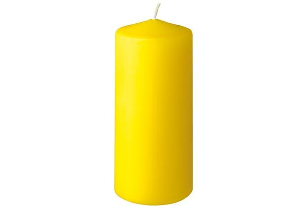 Duni Stumpenkerzen gelb, 6 x 13 cm