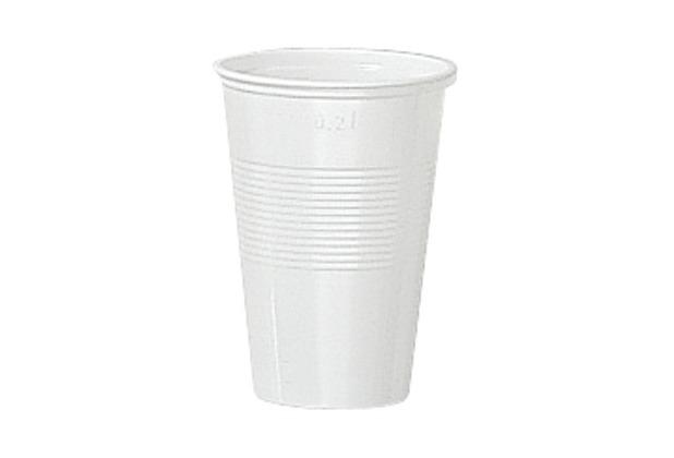 Duni Plastikbecher  weiß, 20 cl,  25 Stück