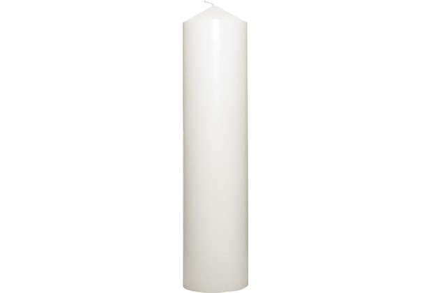 Duni Stumpenkerzen weiß, 10 x 40 cm