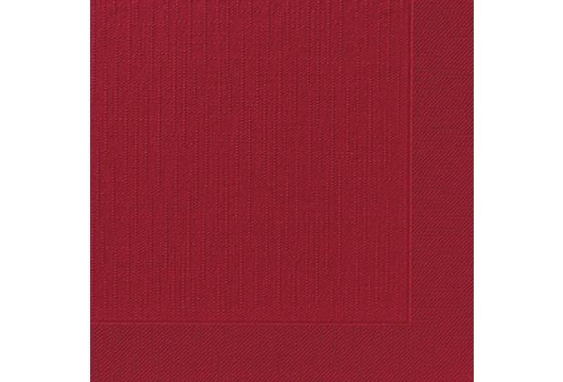 Duni Dinner-Servietten 4lagig Tissue geprägt Uni bordeaux, 40 x 40 cm, 50 Stück