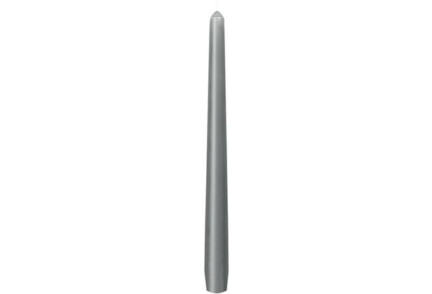 Duni Leuchterkerzen granitgrau, 25 cm, 50 Stück