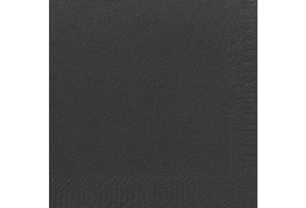duni dinner servietten 3lagig tissue uni schwarz 40 x 40 cm 250 st ck. Black Bedroom Furniture Sets. Home Design Ideas