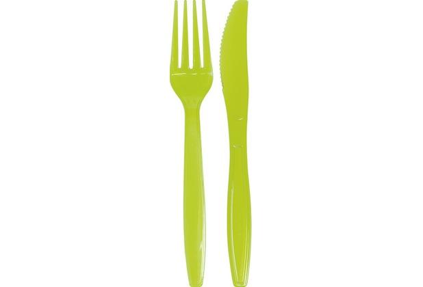 Duni Besteck Set BBQ Green Line, grün, 10 Stück