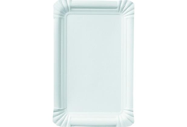 Duni Imbissteller weiß, 13 x 20 cm, 20 Stück