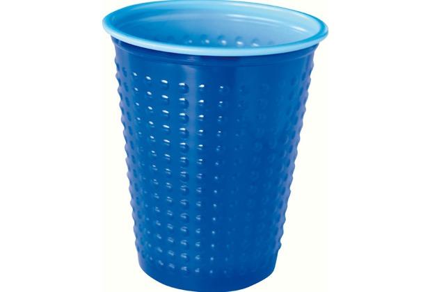 Duni Plastikbecher Colorix Uni blau, 20 cl, 40 Stück