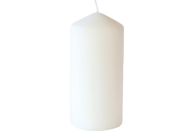 Duni Stumpenkerzen weiß (matt), 7 x 15 cm