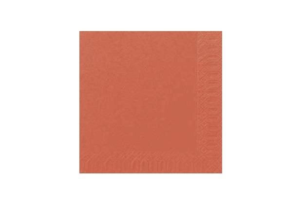 Duni Dinner-Servietten 3lagig Tissue Uni mandarin, 40 x 40 cm, 250 Stück