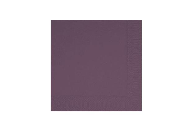 Duni Servietten 3lagig, Uni lila - plum, 40 x 40 cm, 250 Stück