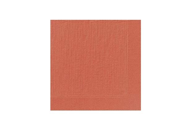Duni Dinner-Servietten 4lagig Tissue geprägt Uni mandarin, 40 x 40 cm, 50 Stück