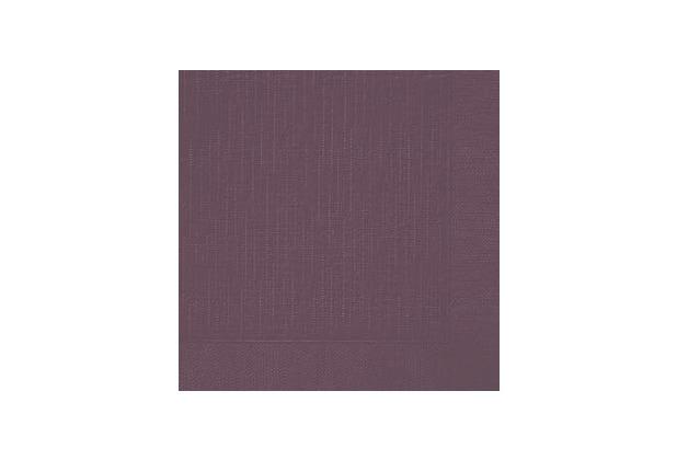 Duni Dinner-Servietten 4lagig Tissue geprägt Uni plum, 40 x 40 cm, 50 Stück