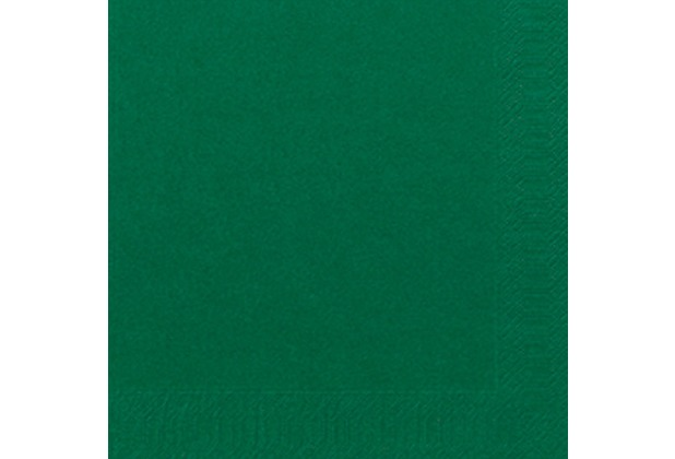 Duni Servietten 3lagig Tissue Uni dunkelgrün, 33 x 33 cm, 250 Stück
