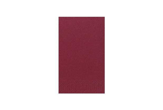 Duni Dinner-Servietten 2lagig Tissue Uni bordeaux, 40 x 40 cm, 250 Stück