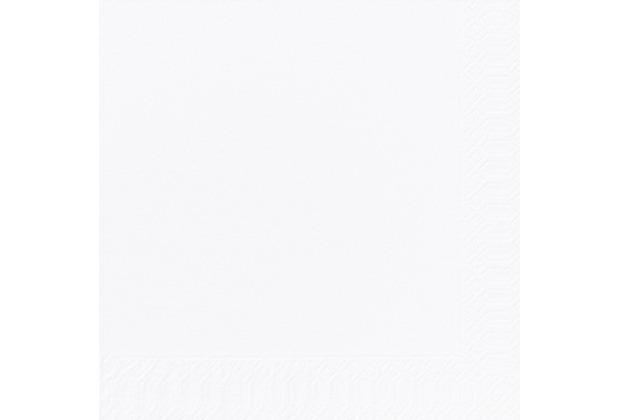 Duni Dinner-Servietten 2lagig Tissue Uni 1/8 weiß, 40 x 40 cm, 300 Stück