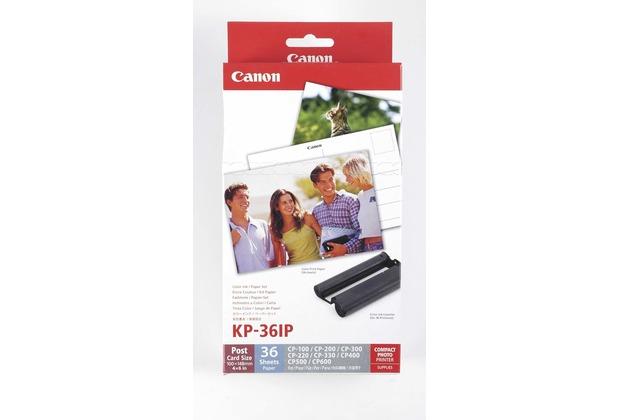 Canon KP-36IP Papier inkl. Farbkartusche (36 Blatt- 10x15)