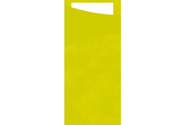 Duni Sacchetto Serviettentasche Uni lime, 8,5 x 19 cm, Tissue Serviette 2lagig weiß, 100 Stück