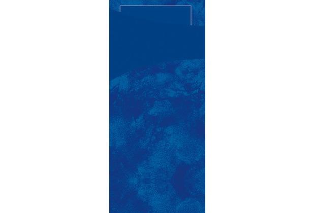 Duni Sacchetto Serviettentasche Uni dunkelblau 8,5 x 19 cm, Tissue Serviette 2lagig dunkelblau, 100 Stück