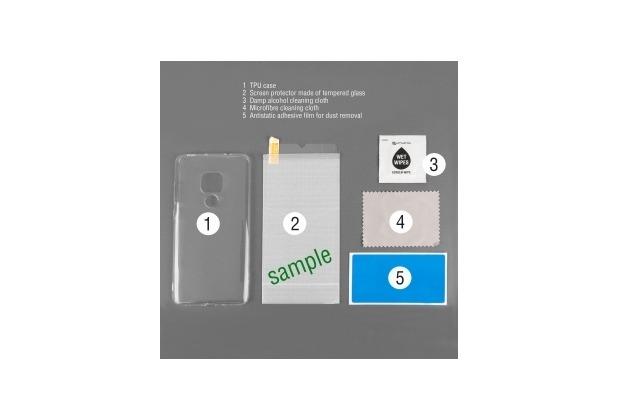 "4smarts 360° Premium Protection Set \""Case Friendly\"" mit Colour Frame Glas für Huawei P30 Lite schwarz"