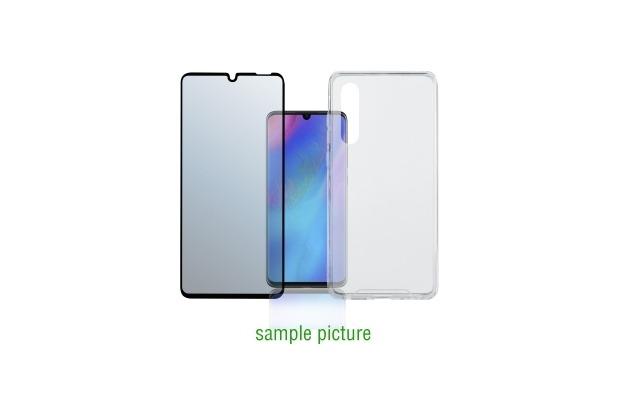 "4smarts 360° Premium Protection Set \""Case Friendly\"" mit Colour Frame Glas für Huawei P30 Pro schwarz"
