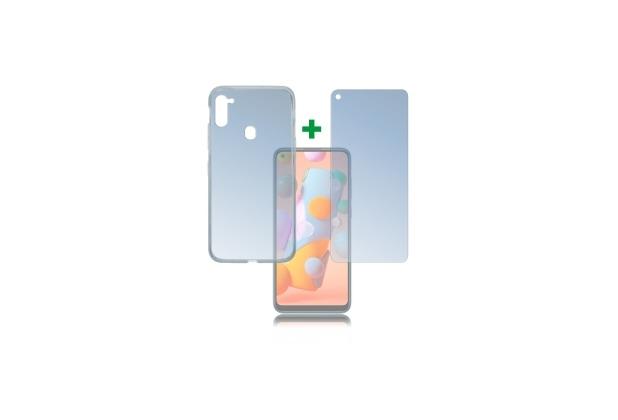 4smarts 360° Protection Set für Samsung Galaxy A11 transparent