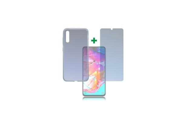 4smarts 360° Protection Set Limited Cover für Samsung Galaxy A70 transparent