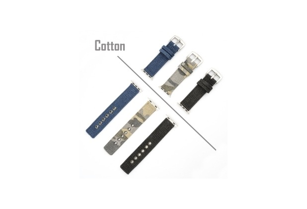 4smarts Cotton Armband für Apple Watch Series 4 (40mm) & Series 3/2/1 (38mm) schwarz