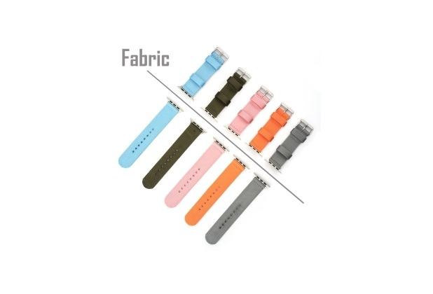 4smarts Fabric Armband für Apple Watch Series 4 (44mm) & Series 3/2/1 (42mm) grün