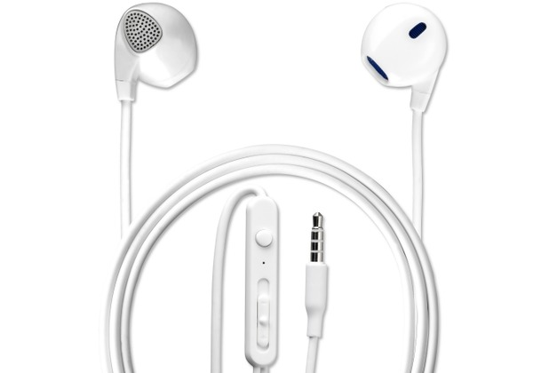4smarts In-Ear Stereo Headset Melody 3,5mm Audiokabel 1,2m weiß