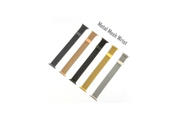 4smarts Metal Mesh Armband für Apple Watch Series 4 (40mm) & 3/2/1 (38mm) schwarz
