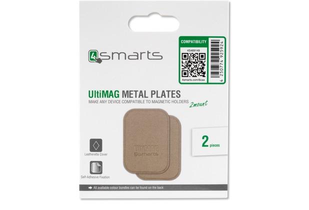4smarts Metallplättchen UltiMAG 2 Stück Kunstleder - gold