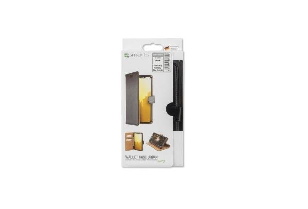 4smarts Premium Flip-Tasche URBAN für Samsung Galaxy A6+(2018) schwarz