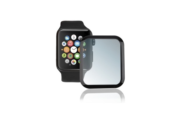 4smarts Second Glass Curved Colour Frame für Apple Watch Series 4 (40 mm) schwarz