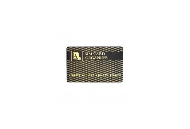 4smarts SIM-Karten Organiser mit Adaptern schwarz gold
