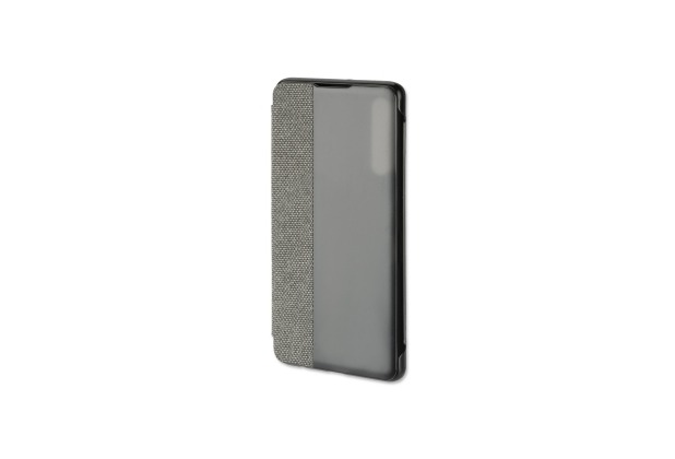 4smarts SmartCover für Huawei P30 Stoff dunkelgrau