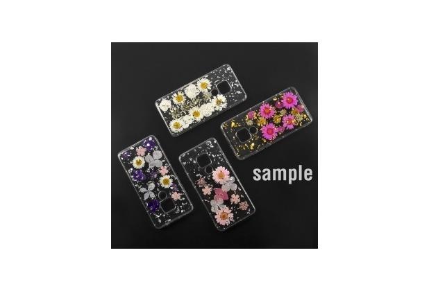 4smarts Soft Cover Glamour Bouquet für Huawei nova 4 weiße Blumen/silberne Flocken