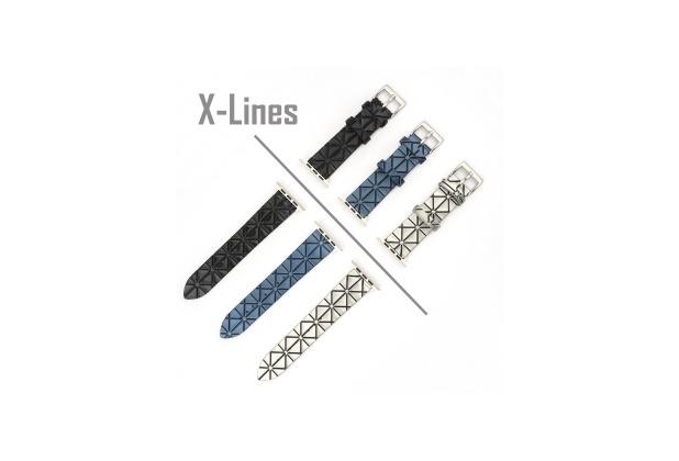 4smarts X-Lines Armband für Apple Watch Series 4 (40mm) & Series 3/2/1 (38mm) schwarz