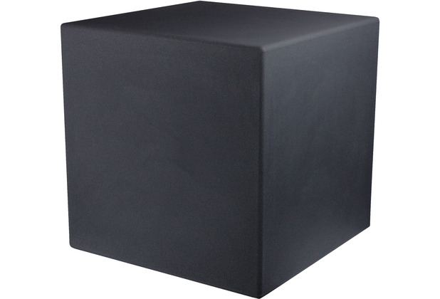 8 Seasons Dekoleuchte Shining Cube \'Anthrazit\' 33 cm
