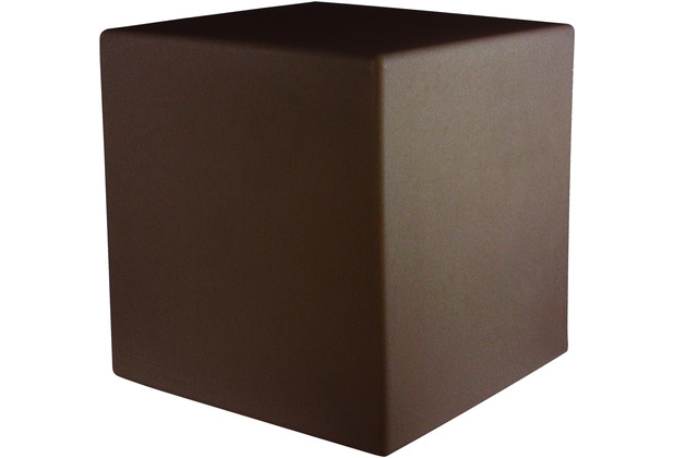 8 Seasons Dekoleuchte Shining Cube \'Brown\' (Solar) 33 cm
