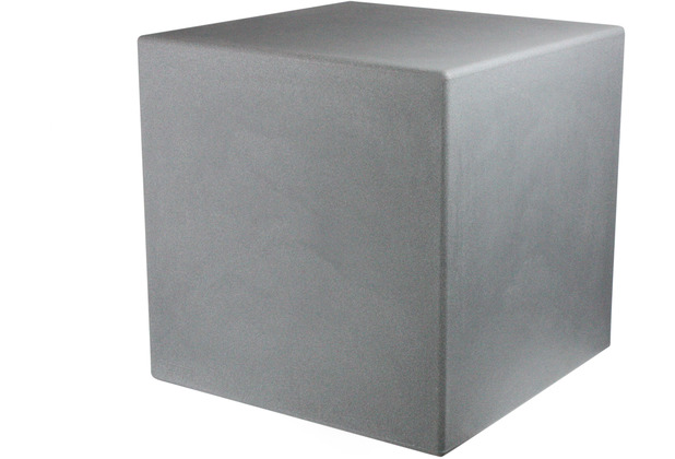 8 Seasons Dekoleuchte Shining Cube \'Grey\' 33 cm
