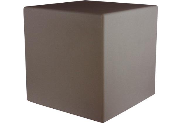 8 Seasons Dekoleuchte Shining Cube \'Taupe\' (Solar) 33 cm